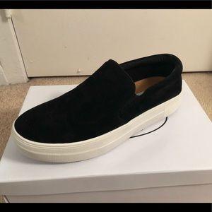 Steve Madden Gills Black Suede Sneaker